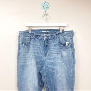 Old Navy Boyfriend Crop Jeans Size 16 NWT